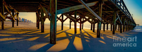 Springmaid Pier At Sunrise Art Print
