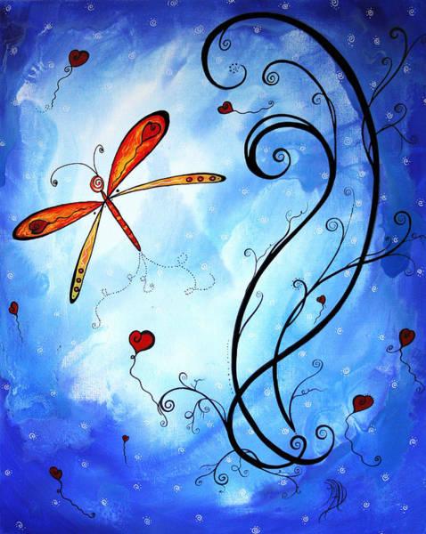 Upbeat Painting - Springs Sweet Song Original Madart Painting by Megan Duncanson