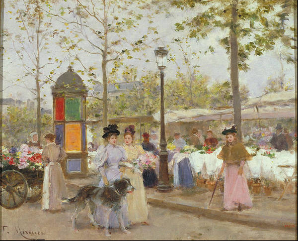 I Dream Painting - Springtime Around 1896 by Francesc Miralles I Galaup