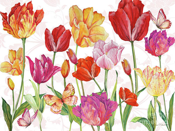Corral Wall Art - Painting - Springtime Botanicals-a by Jean Plout