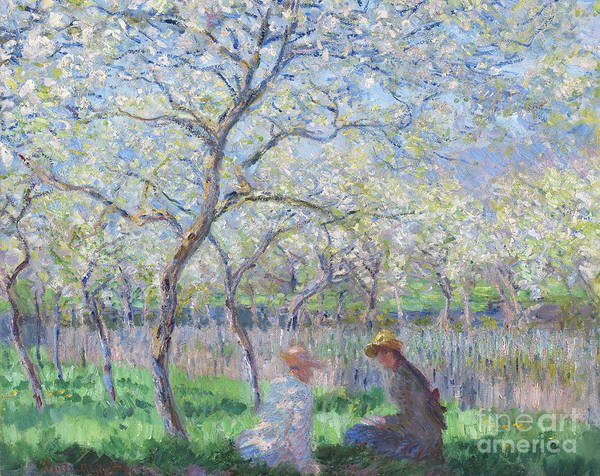 Blooming Tree Painting - Springtime by Claude Monet