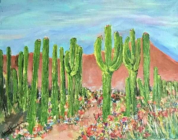 Painting - Springtime In The Desert by Sherry Harradence