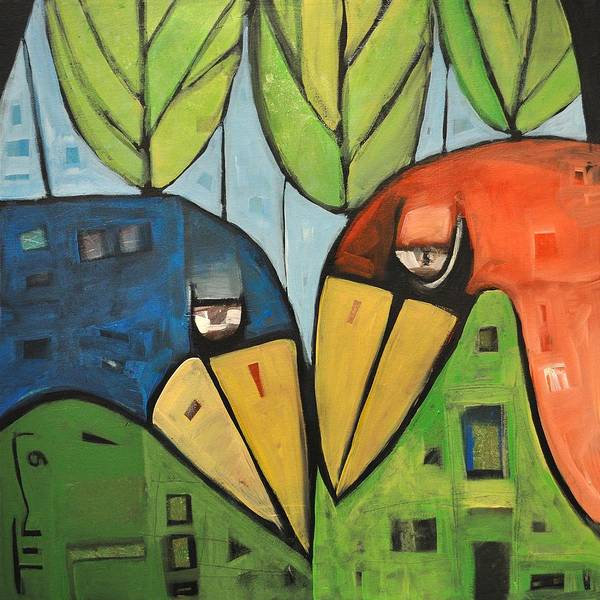 Wall Art - Painting - Springtime Lovebirds by Tim Nyberg