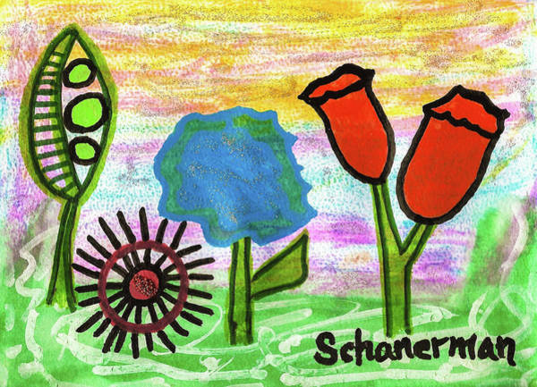 Drawing - Springtime Splendor by Susan Schanerman