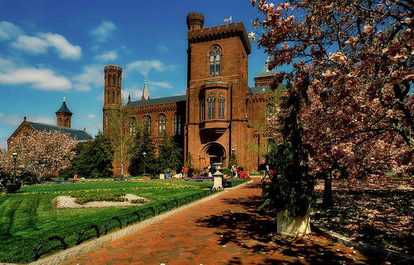 Smithsonian Photograph - Springtime View Of The Smithsonian Institution  by L O C