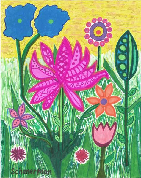 Drawing - Springtime Welcome by Susan Schanerman