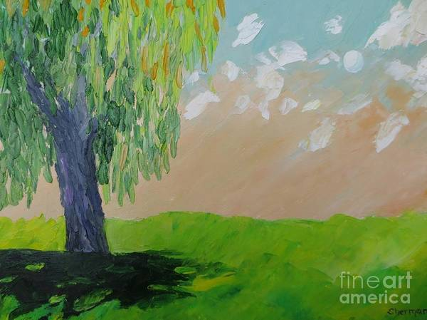 Painting - Springtime Willow by Stella Sherman