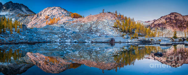Alpine Lakes Wilderness Photograph - Sprite Lake Panorama by Inge Johnsson