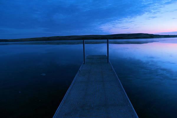 Swan Boats Photograph - Springbrook Lake At Dawn by Jeff Swan