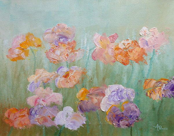 Painting - Sprouting Hues by Angeles M Pomata