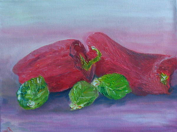Sprouts And Peppers Art Print