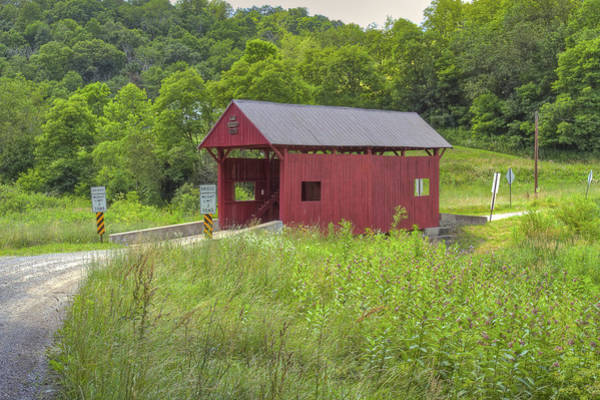 Photograph - Sprowls Covered Bridge by Jack R Perry