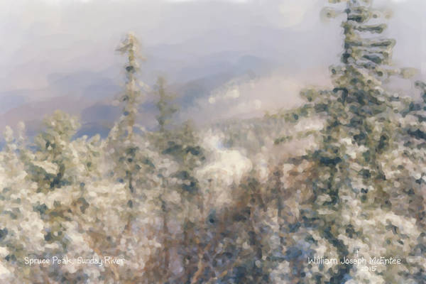 Painting - Spruce Peak Summit At Sunday River by Bill McEntee