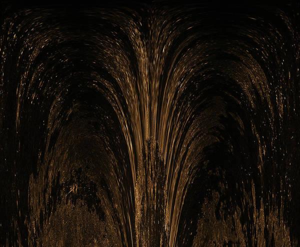 Wall Art - Mixed Media - Spun Gold Fountain 1 by Lisa Stanley