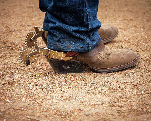 Cowboy Action Shooting Photograph - Spurs Required by John Bartelt