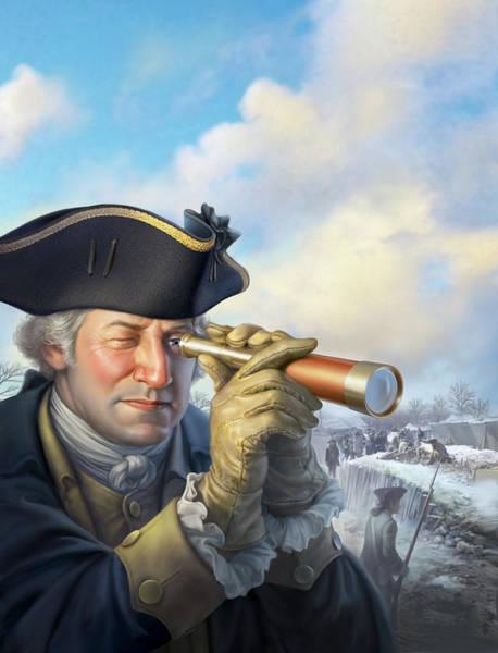 Revolutionary War Wall Art - Digital Art - Spymaster George by Mark Fredrickson