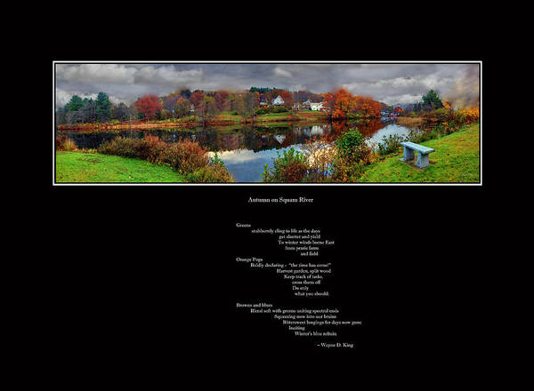 Photograph - Squam River Poem And Panorama by Wayne King
