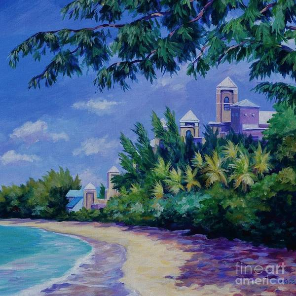 Square Mile Wall Art - Painting - Square 7 Mile Beach And Ritz Carlton by John Clark