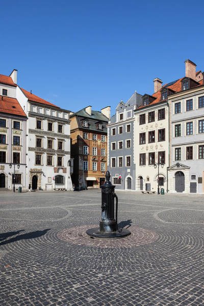 Tenement Photograph - Square In Old Town Of Warsaw by Artur Bogacki