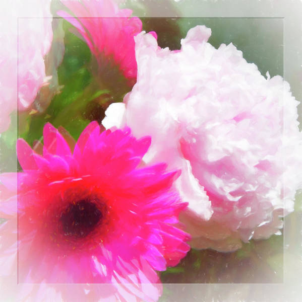 Photograph - Square Pink Flower Impressions by Natalie Rotman Cote