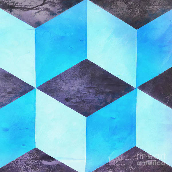 Wall Art - Painting - Squares Abstract by Edward Fielding