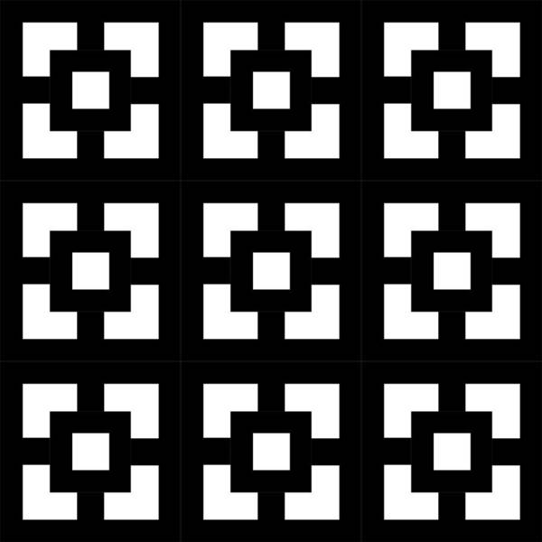 Digital Art - Squares Multiview by Chuck Staley