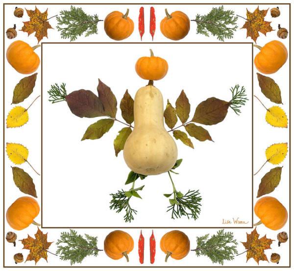 Digital Art - Squash With Pumpkin Head by Lise Winne