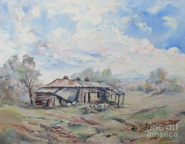 Painting - Squatter's Arms Inn, Ruins, Cookardinia. 1 Of Pair. by Ryn Shell