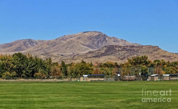 Softball Photograph - Squaw Butte From Gem Island Sport Complex by Robert Bales