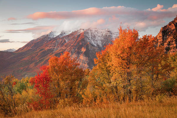 Wall Art - Photograph - Squaw Peak Fall Sunset by Johnny Adolphson