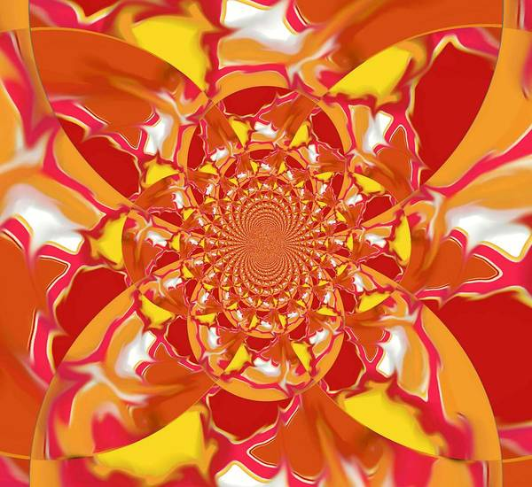 Digital Art - Squazzle-topright-kaleidoscope by Julia Woodman
