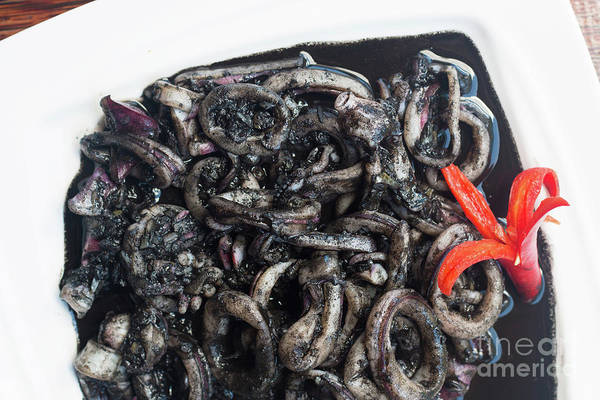 Wall Art - Photograph - Squid In Ink by Atiketta Sangasaeng