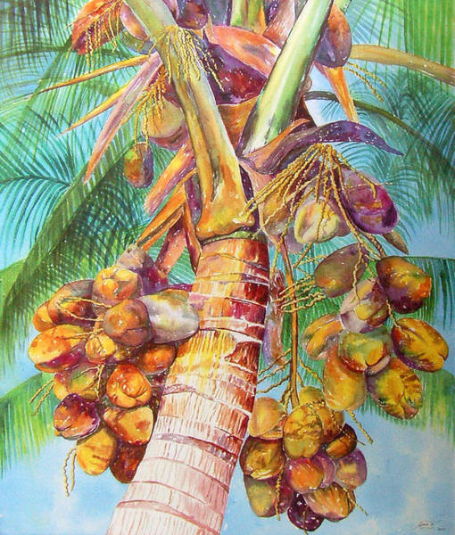 Painting - Squire's Coconuts by AnnaJo Vahle