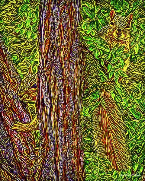 Digital Art - Squirrel Gazing by Joel Bruce Wallach