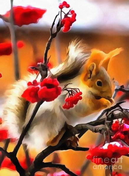 Painting - Squirrel Interior Design In Thick Paint by Catherine Lott