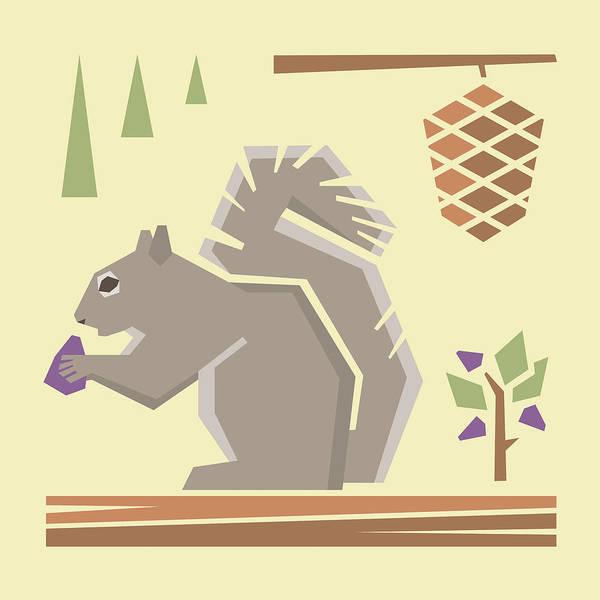 Wildlife Digital Art - Squirrel1 by Mitch Frey