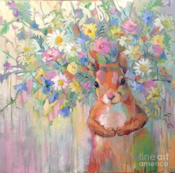 Rodent Wall Art - Painting - Squirreley by Kimberly Santini