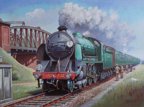 Loco Wall Art - Painting - Sr King Arthur Class. by Mike Jeffries