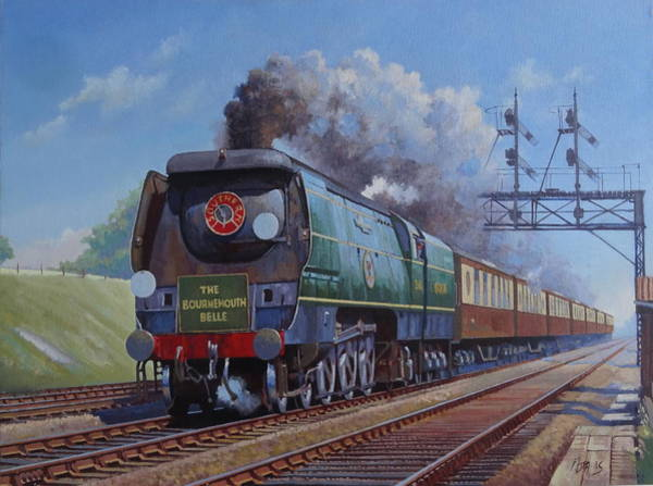 Bully Painting - Sr Merchant Navy Pacific by Mike Jeffries