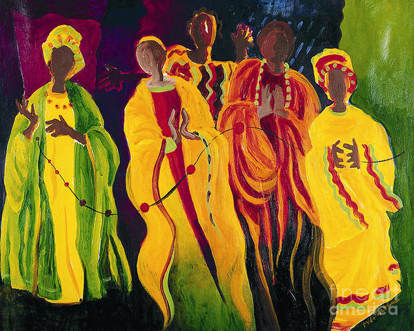 Painting - Sr. Thea Bowman - I'll Be Singing Up There - Mmibs by Br Mickey McGrath OSFS