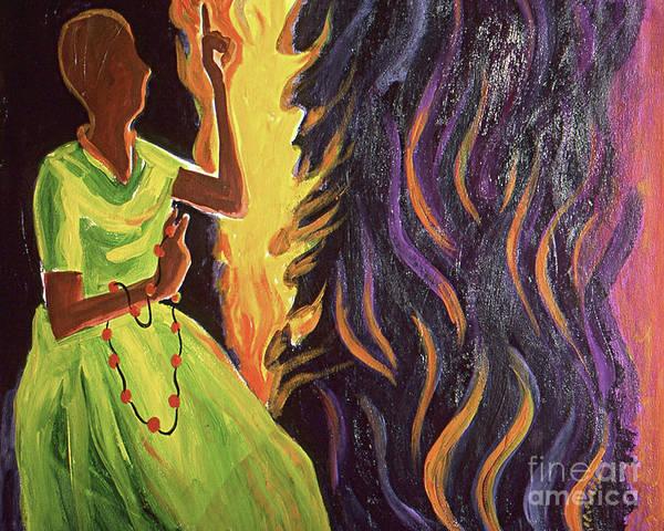 Painting - Sr. Thea Bowman - Precious Lord - Mmplo by Br Mickey McGrath OSFS