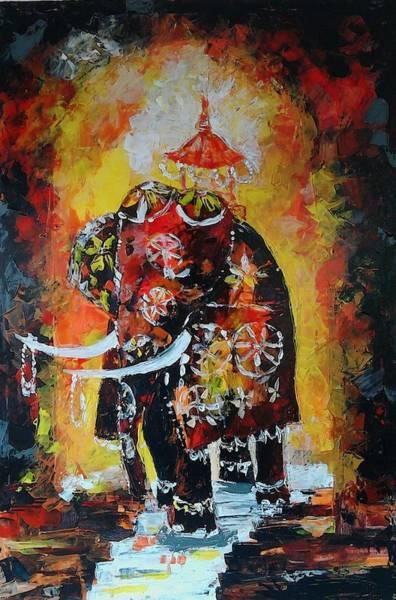 Wall Art - Painting - Sri Daladha by Sudumenike Wijesooriya