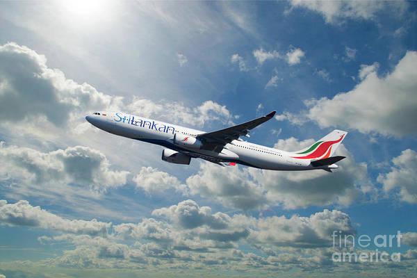 Wall Art - Digital Art - Sri Lankan Air Airbus A330-300 by J Biggadike