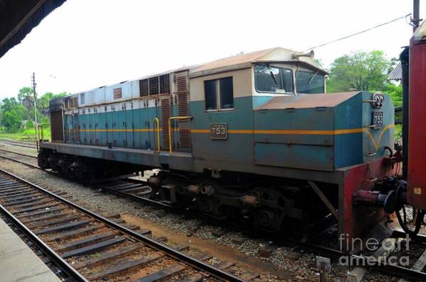Photograph - Sri Lankan Railways Diesel Electric Locomotive Train Engine Parked At Station by Imran Ahmed