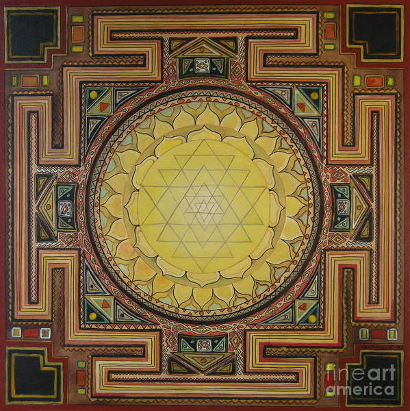 Wall Art - Painting - Sri Yantra by Karl Seitinger