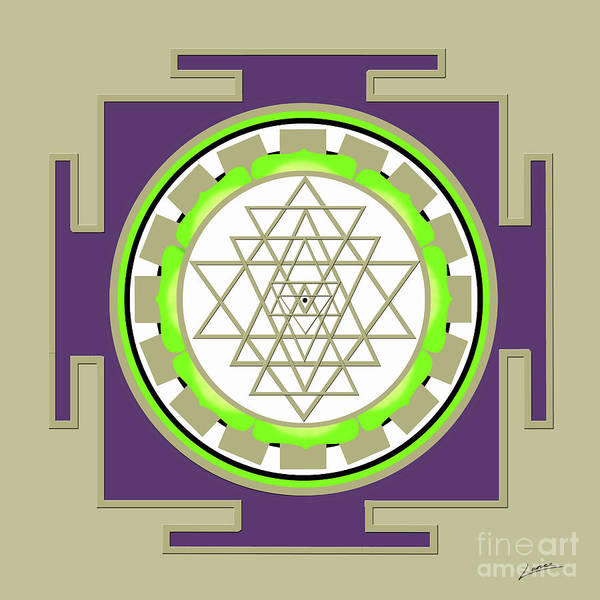 Digital Art - Sri Yantra Of Prosperity by Lance Sheridan-Peel