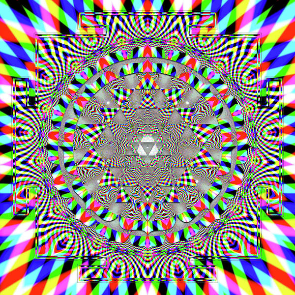 Digital Art - Sri Yantra Rgb by Robert Thalmeier