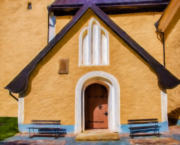 Photograph - Srtistic Entre To Enkopingsnas Church May by Leif Sohlman