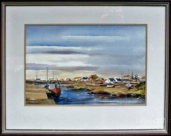 Painting - F 730 Sruthan Connemara Galway....vb730 by Val Byrne