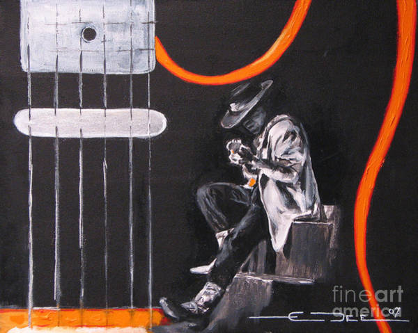 Painting - Srv - Stevie Ray Vaughn by Eric Dee
